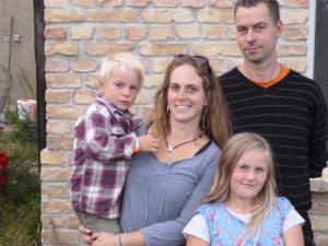 Familie 2012 auf derm Permakultur-Hof